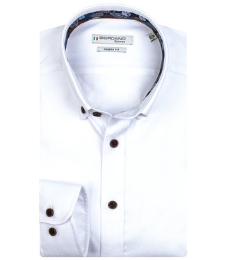 Giordano Tailored wit structuur button down