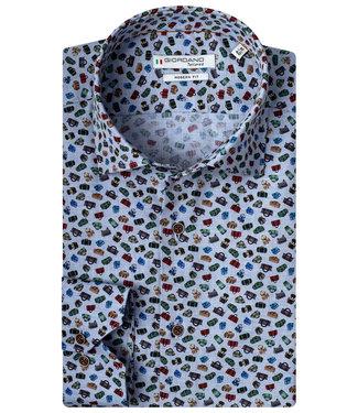 Giordano Tailored lichtblauw tutti colori tassen print