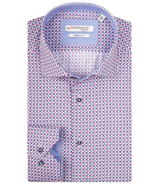 Giordano Tailored wit met roze blauw vliegtuigen print