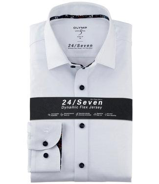 Olymp overhemd wit body fit dynamic flex jersey