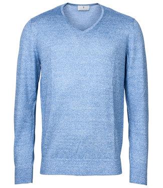 Thomas Maine heren lichtblauw v-hals trui