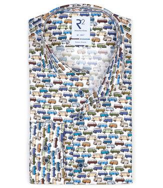 R2 Amsterdam overhemd tutti colori volkswagen T1 busjes print