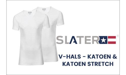 Slater t-shirts v-hals