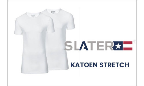Slater t-shirts katoen stretch