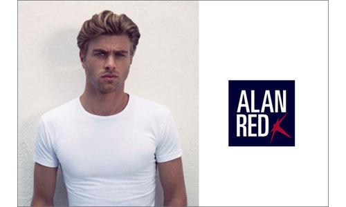 Alan Red t-shirts katoen