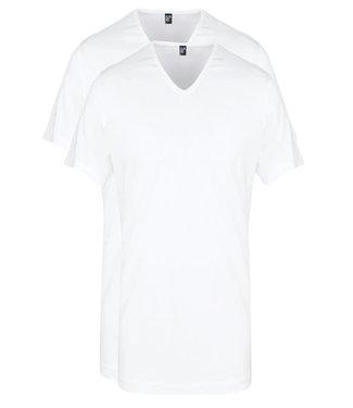 Alan Red wit t-shirts 2-pack v-hals katoen