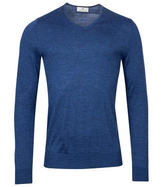Thomas Maine heren donker kobaltblauw v-hals trui