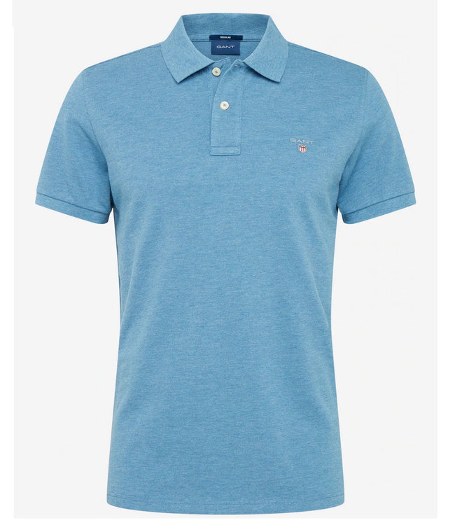 Gant jeans blauw heren polo korte mouw regular fit