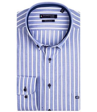 Giordano Regular Fit blauw-wit brede streep