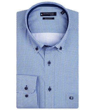 Giordano Regular Fit overhemd wit-blauw structuur