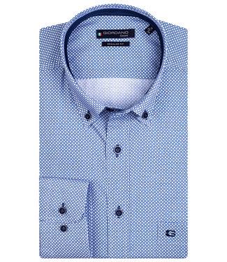 Giordano Regular Fit wit-blauw structuur