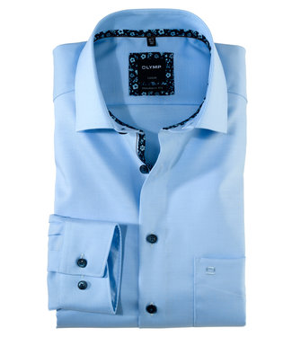 Olymp overhemd lichtblauw uni mouwlengte 7