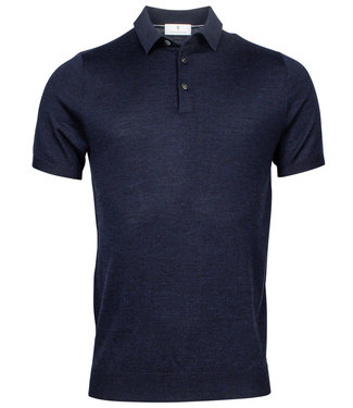 Thomas Maine heren polo korte mouw donkerblauw