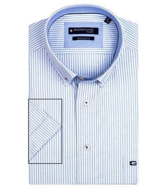 Giordano Regular Fit lichtblauw-wit oxford streepje