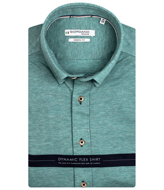 Giordano Tailored heren overhemd groen knitted jersey dynamic flex button down