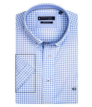 Giordano Regular Fit lichtblauw-wit ruitje