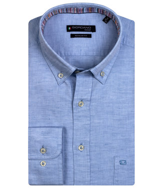 Giordano Regular Fit lichtblauw oxford overhemd
