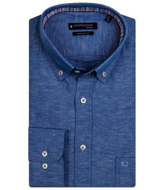 Giordano Regular Fit blauw oxford overhemd