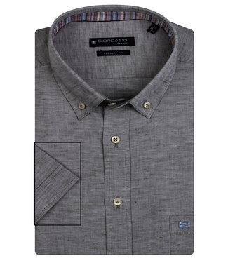 Giordano Regular Fit donker groen oxford overhemd
