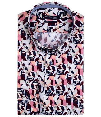 Giordano Regular Fit zwart-roze-bruin-wit camouflage print