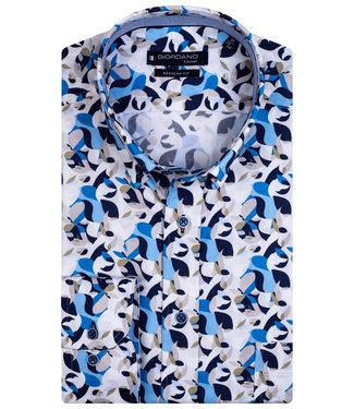 Giordano Regular Fit donkerblauw-kobaltblauw-grijs-wit camouflage print