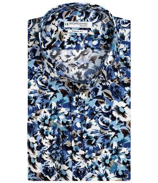 Giordano Tailored wit beige blauw donkerblauw bloemen print