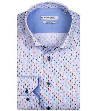 Giordano Tailored lichtblauw-wit tutti colori ijsjes print