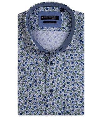 Giordano Regular Fit wit met blauw groen avocado print