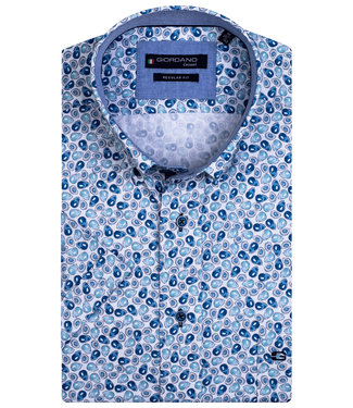 Giordano Regular Fit wit met blauw aqua blauw avocado print