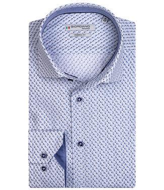 Giordano Tailored wit met blauw donkerblauw print