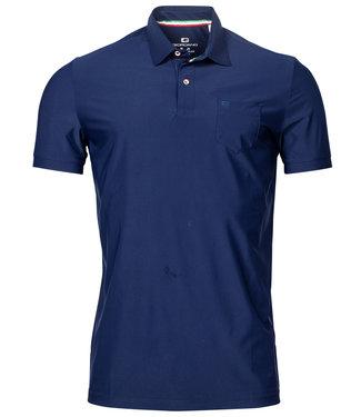 Giordano Tailored polo kobaltblauw techno stretch