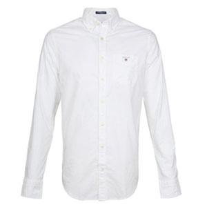 Gant Oxford uni wit overhemd