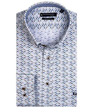 Giordano Regular Fit wit met donkerblauw-lichtblauw-beige-groen vissen print