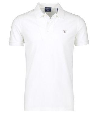 Gant wit heren polo korte mouw regular fit