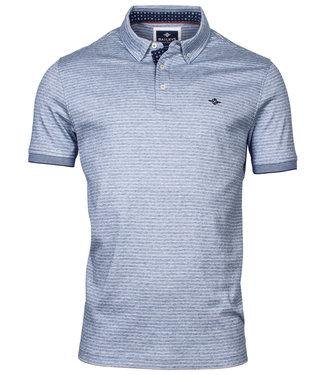 Baileys polo jeans blauw-wit streepje button down