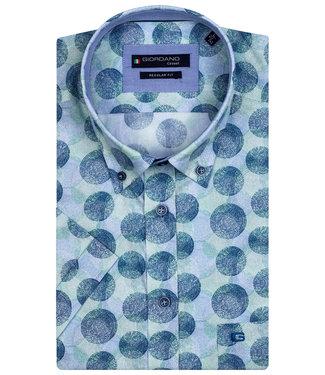 Giordano Regular Fit wit met blauw-lichtblauw-groen circle print