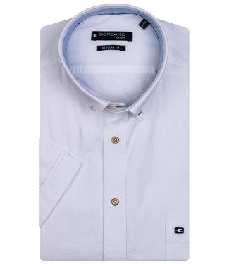 Giordano Regular Fit korte mouw overhemd wit oxford