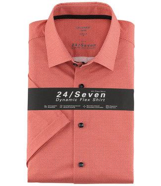 Olymp korte mouw overhemd rood print