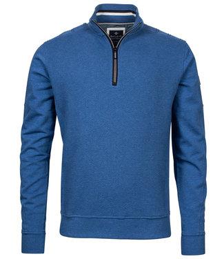 Baileys heren sweater blauw met ritsje