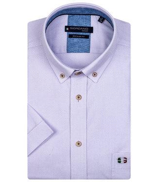 Giordano Regular Fit korte mouw lila structuur overhemd