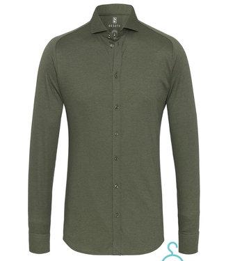 Desoto overhemd donkergroen uni cut away