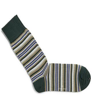Profuomo heren groene streepte sokken