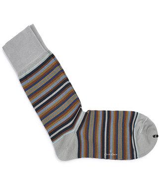 Carlo Lanza heren grijs bruin streepte sokken