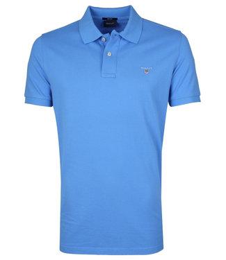 Gant blauw heren polo korte mouw  regular fit
