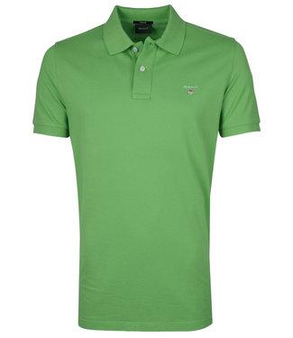 Gant groen heren polo korte mouw  regular fit