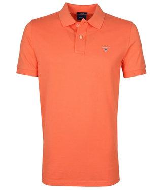 Gant oranje heren polo korte mouw  regular fit