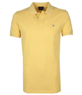 Gant geel heren polo korte mouw  regular fit