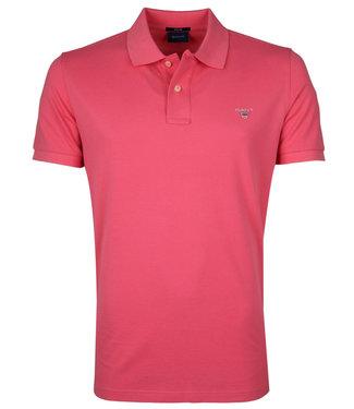 Gant rood roze heren polo korte mouw regular fit