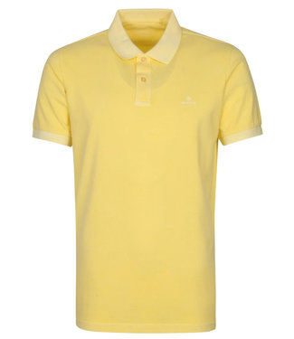 Gant geel brimstone yellow gewassen heren polo