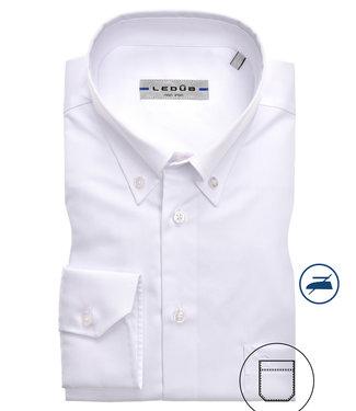 Ledub overhemd wit button down non-iron